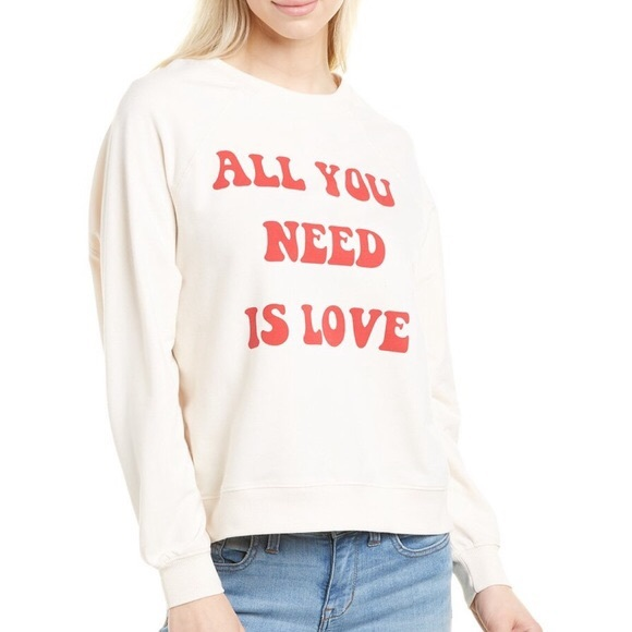 WILDFOX All You Need Is Love Sommers Sweatshirt